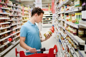 man in supermarket